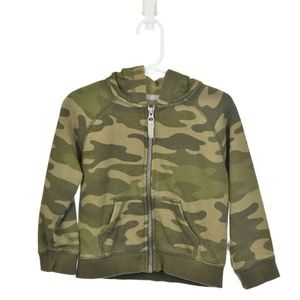 Carter's Green Camoflauge Zip-Up Hoodie